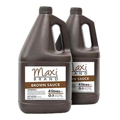 MAXI BROWN SAUCE  2x4 lt