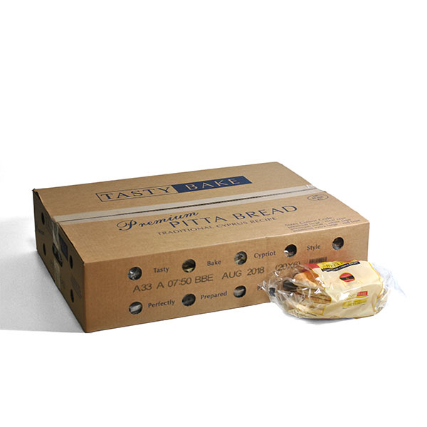 TASTY BAKE LARGE CYPRIOT PITTA BREAD 6x24 FROZEN
