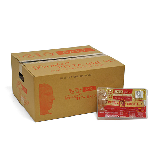 TB LONG LIFE SMALL CYPRIOT PITTA BREAD 18x6 AMBIENT- RED BOX