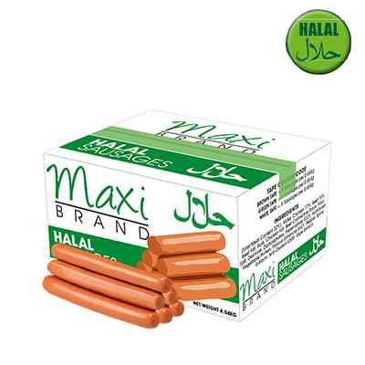 MAXI HALAL SAUSAGES 8's  4.54kg