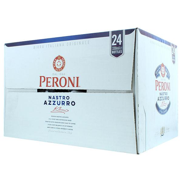PERONI BEER GLASS BOTTLES 24 x 330 ML NASTRO AZZURRO