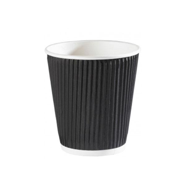 DISPO BLACK 10oz RIPPLE WALL PAPER CUPS 1x500
