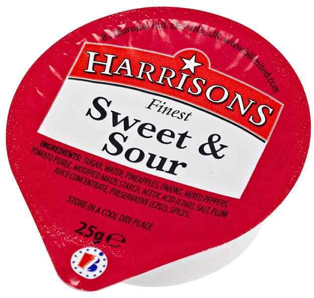 HARRISONS SWEET N SOUR DIP POTS  100x25g