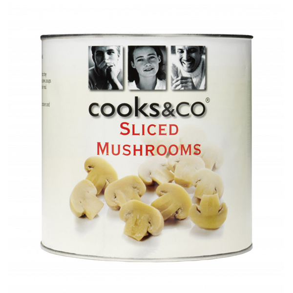 COOKS & CO SLICED MUSHROOMS  6x2.5kg