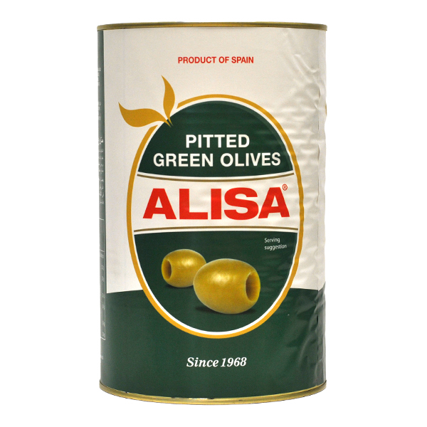ALISA WHOLE PITTED GREEN OLIVES  1x5kg