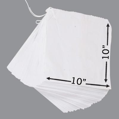"""WHITE SULPHITE TAKEAWAY BAGS 10x10""""  1x1000"""