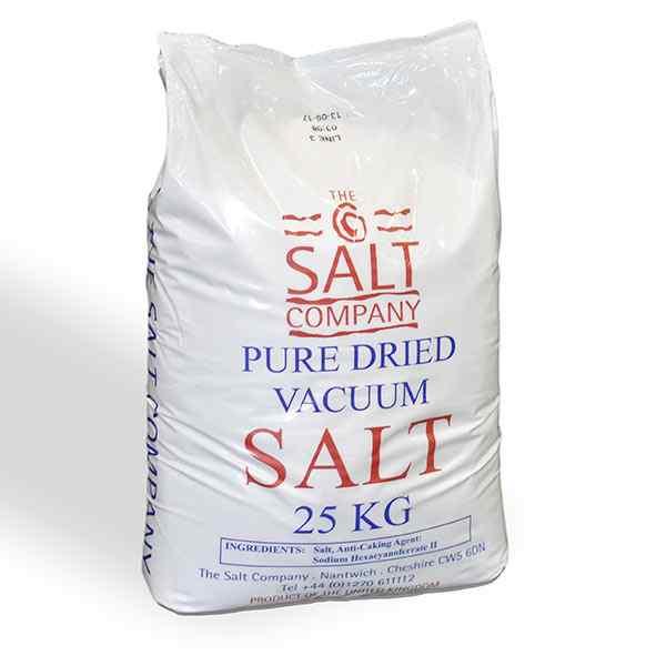 LARGE BAG UK PURE DRIED SALT  1x25kg