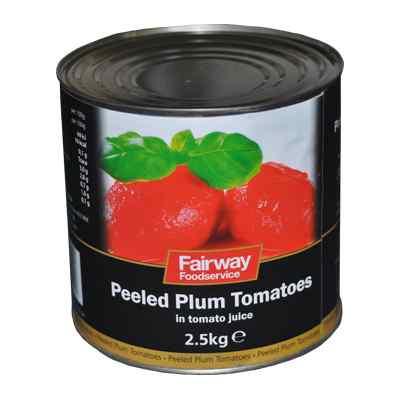 FAIRWAY PLUM TOMATOES 6x2.55kg RIVERDENE
