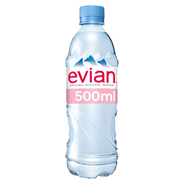 EVIAN NATURAL WATER  24x500ml