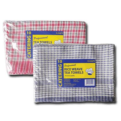 MINI CHECK COTTON TEA TOWEL 43x68cm 10'S