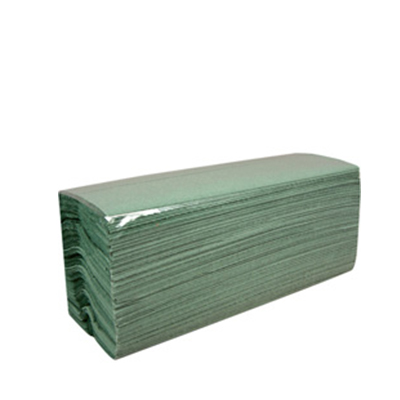 C - FOLD HAND TOWELS ( GREEN )  1x2560