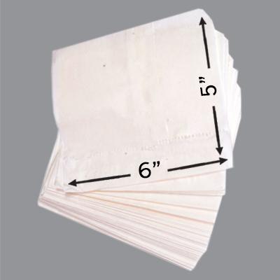 GREASEPROOF TAKEAWAY BAGS 6x5  1x1000
