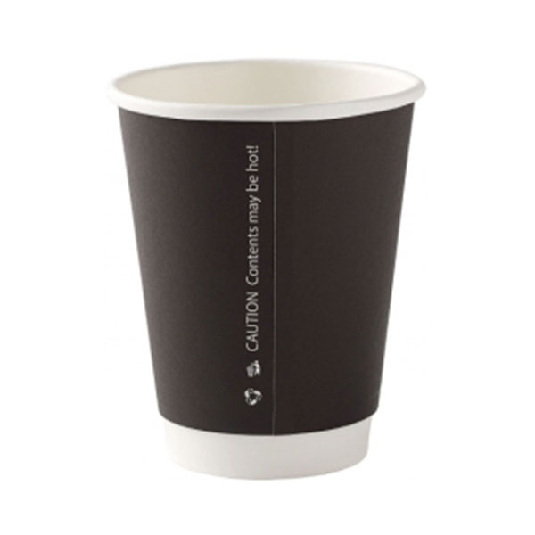 8OZ DOUBLE WALL BLACK HOT DRINK CUP 20x25