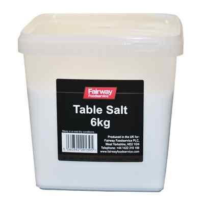 FAIRWAY TABLE SALT TUB  2x6kg