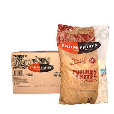 SUPERFARM ( FARMFRITES ) CHIPS 3/8  4x2.5kg 10mm PRODUCT CODE  : 113.005