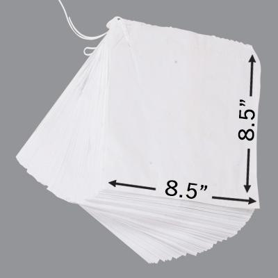 """WHITE SULPHITE TAKEAWAY BAGS 8.5x8.5"""" 1x1000"""