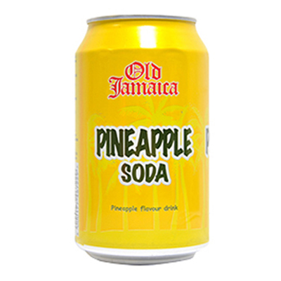 OLD JAMAICA PINEAPPLE SODA CANS  24x330ml
