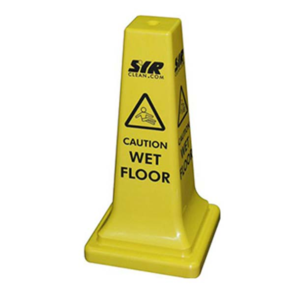 CAUTION WET FLOOR CONE SAFETY SIGN