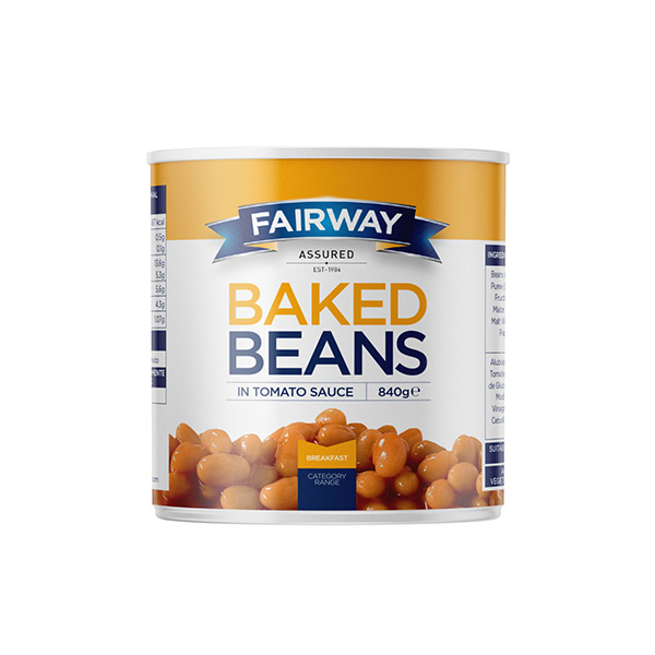 SMALL FAIRWAY BEANS IN TOMATO SAUCE  6x840 gm