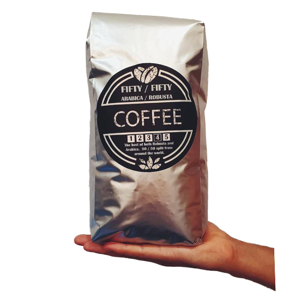 FIFTY FIFTY ARABICA ROBUSTA COFFEE BEANS 1kg