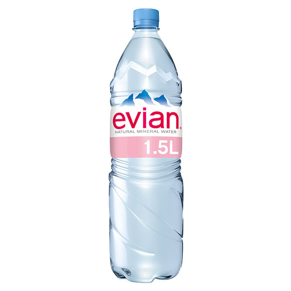 EVIAN NATURAL WATER 6 x1.5lt