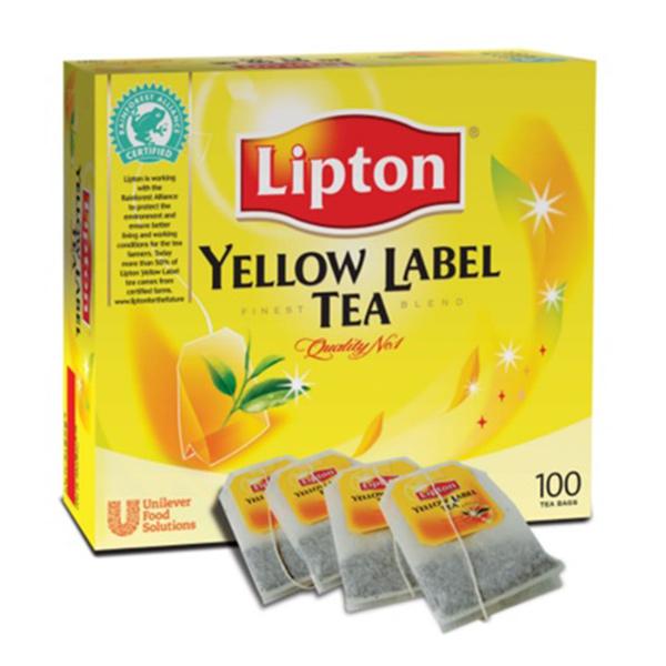 LIPTON'S YELLOW LABEL TAGGED TEA 1x100
