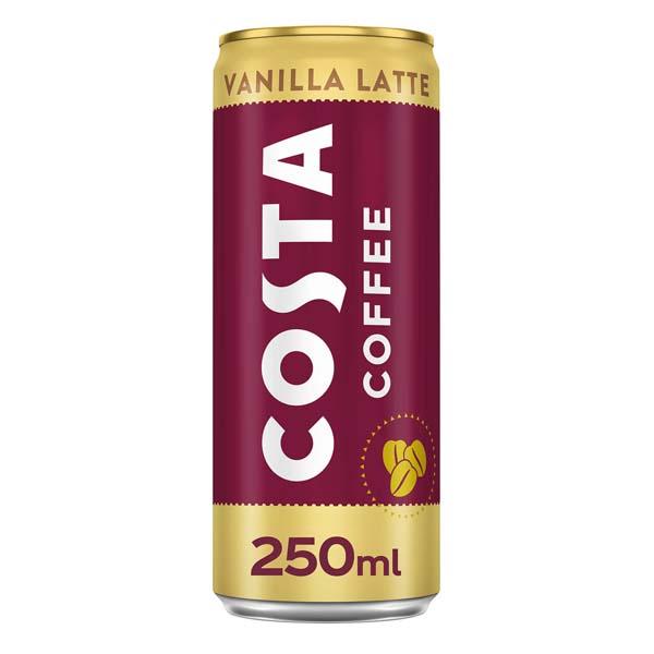 COSTA VANILLA LATTE CANS  12x250ml