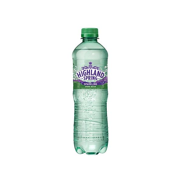 HIGHLAND SPARKLING WATER PET  24x500ml