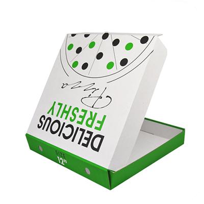 """10"""" DELICIOUS WHITE PIZZA BOX E-FL  1x100"""