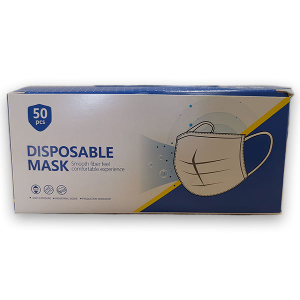 DISPOSABLE PROTECTIVE  FACE MASK 1x50
