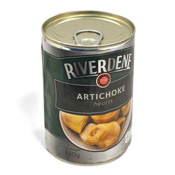 RIVERDENE  ARTICHOKE HEARTS 5/7 12 x 390g