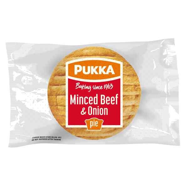 UNWRAP PUKKA MINCED BEEF & ONION PIE  12X229g
