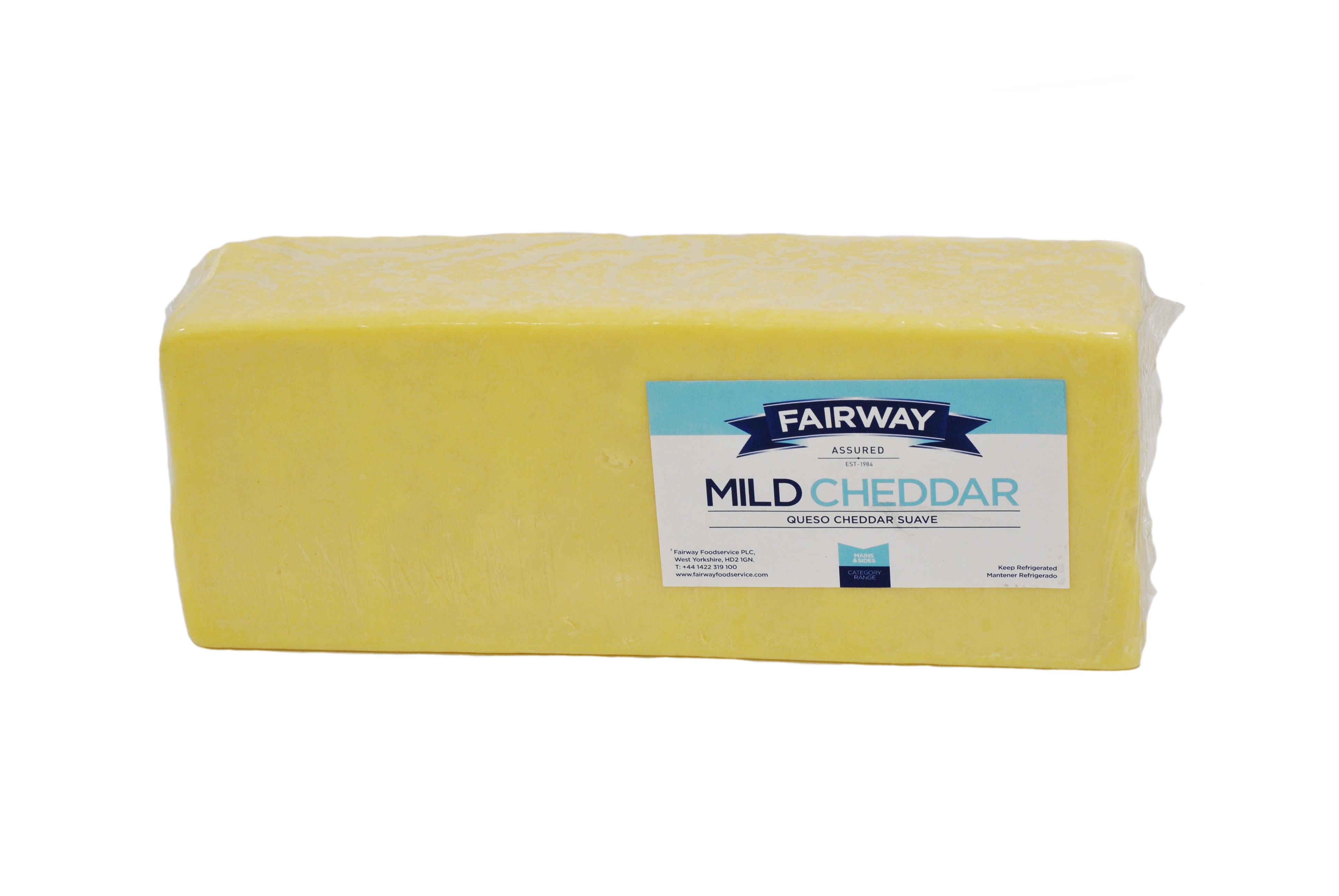 5kg FAIRWAY BLOCK MILD WHITE CHEDDAR CHEESE