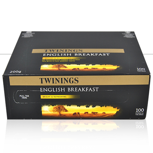 TWININGS ENGLISH BREAKFAST (STR&T) 1 x100 STRING AND TAG