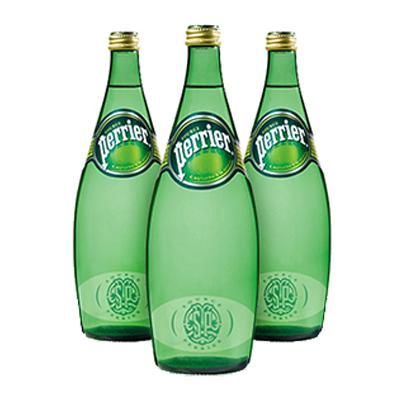PERRIER WATER GLASS BOTTLES  12x750ml
