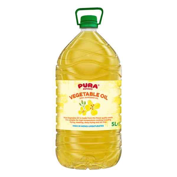 PURA PURE RAPESEED VEGETABLE OIL 3x5LT BOX