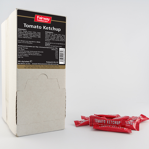 FAIRWAY  TOMATO KETCHUP PORTIONS  200x9g