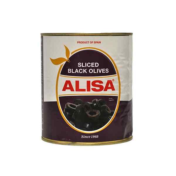 ALISA SLICED BLACK OLIVES1x1.56kg