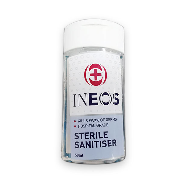 INEOS HAND SANITISER (WHO approved ) 1x50ml