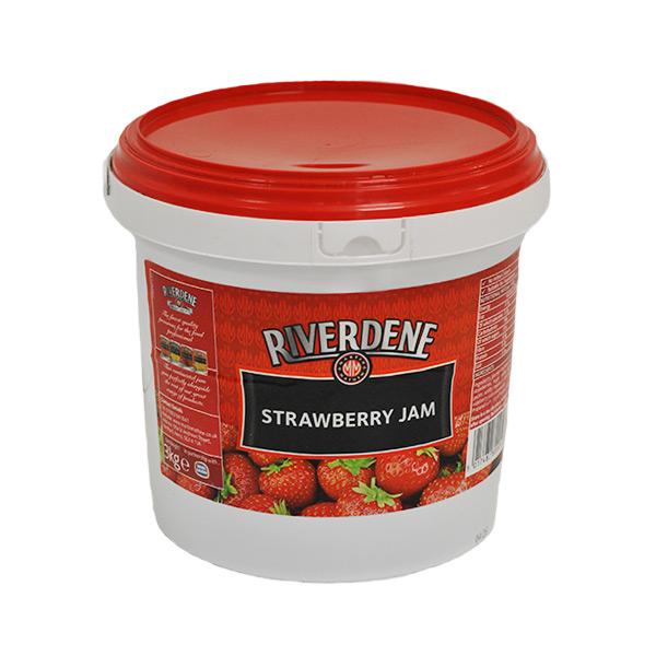 RIVERDENE STRAWBERRY JAM TUBS 3kg