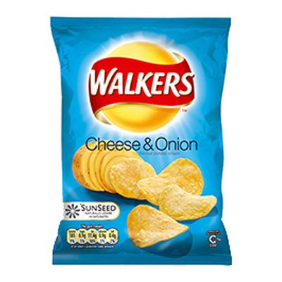 WALKERS STD CHEESE & ONION  32x32g***BOX