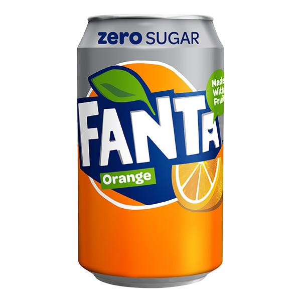 ZERO SUGAR FANTA ORANGE CANS 24x330ml