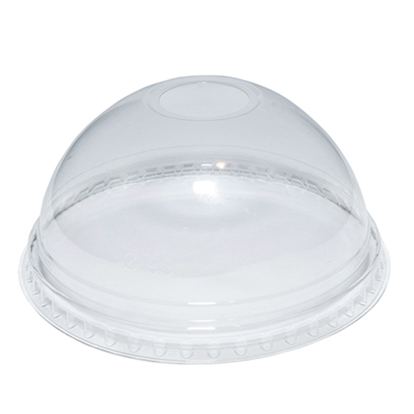 GO PACK 12oz PET DOMED LIDS WITH HOLE 1x1000