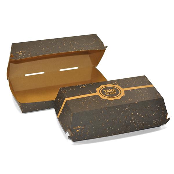 VINTAGE BLACK KSSK LARGE FOOD BOXES 1X250 L 205mm  x D 107mm x H 78mm