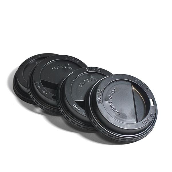 LIDS BLACK DOMED FOR 10 / 12/ 16oz CUPS 1000s
