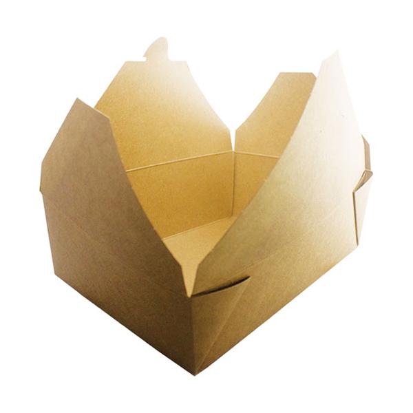 NO8 DELI BOX KRAFT MEDIUM FOLD TOP  1x300 L 160mm  W 125mm  H 70mm