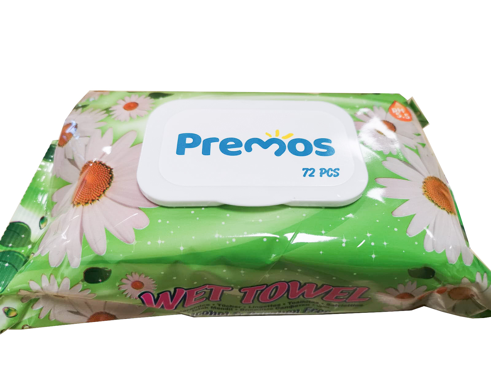 PREMOS WET TOWEL / WET WIPES 72scs