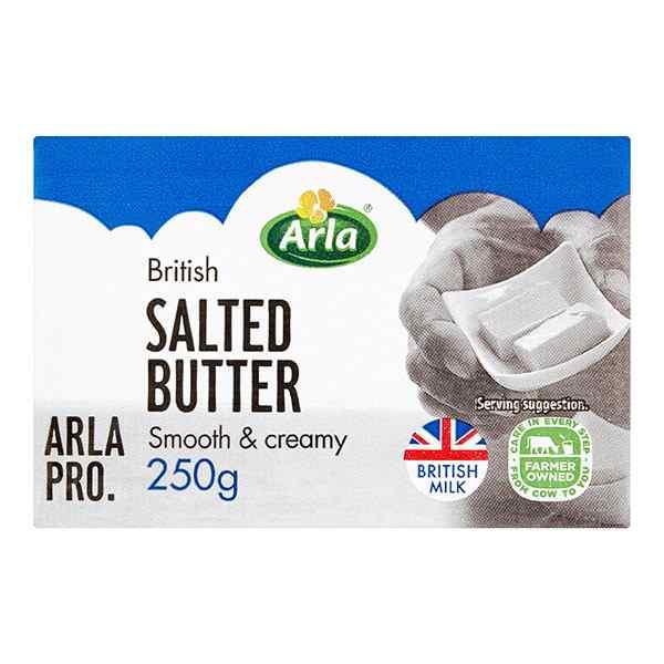 ARLA SALTED BUTTER 1x250gm