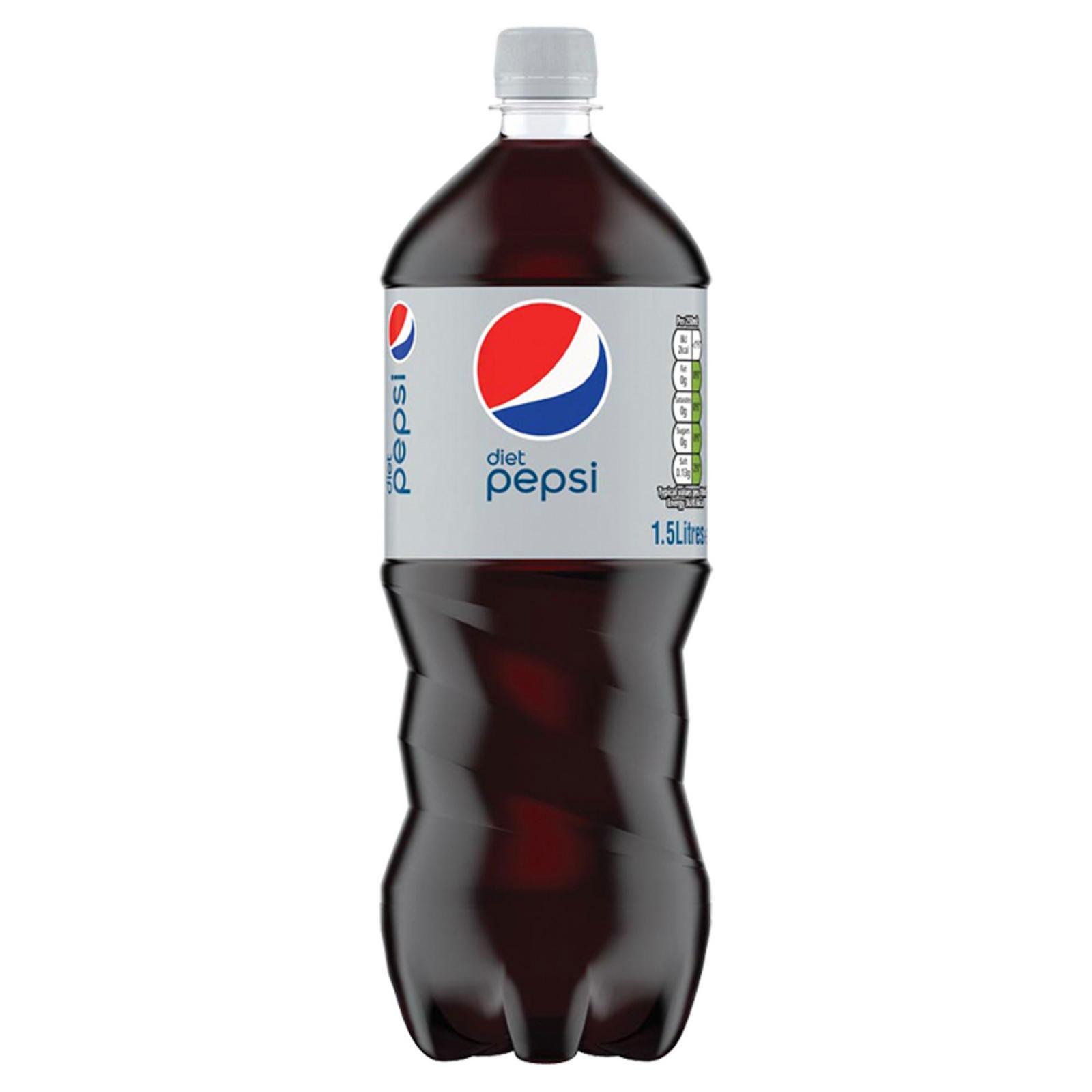 DIET PEPSI BOTTLES (GB)  12x1.5lt PET