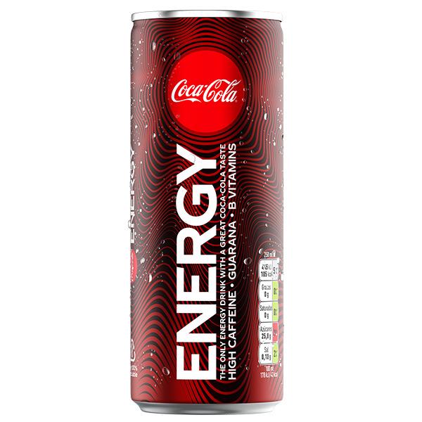 COKE ENERGY CANS 12x250ml